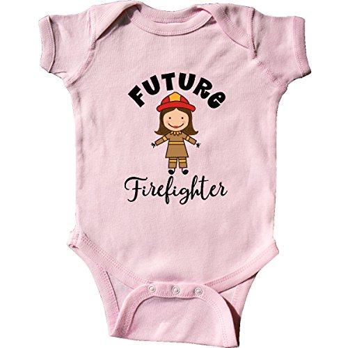 inktastic - Future Firefighter Cute Girls Infant Creeper Newborn Pink -