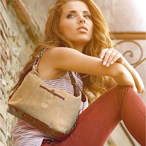 de de lona TRP0413 bolso lavado bolso elegante London Troop Heritage hombro de mano BEIS mujer cuero txYYH1wqa