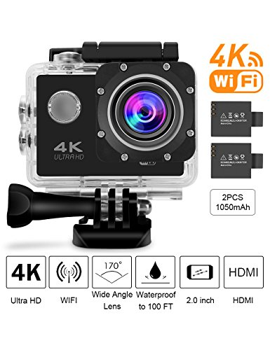 Ultra 4K Action Camera (Silver) Set Of 2 - 7