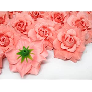 """(24) Silk Orose Roses Flower Head - 1.75"""" - Artificial Flowers Heads Fabric Floral Supplies Wholesale Lot for Wedding Flowers Accessories Make Bridal Hair Clips Headbands Dress 2"""