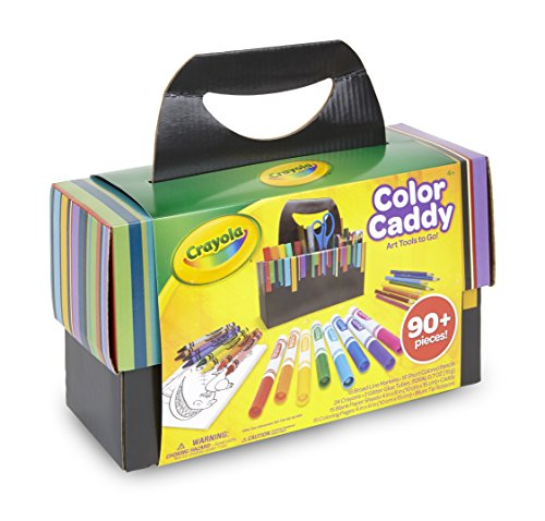 Crayola Color Caddy, Art Supplies for Kids, Travel Art Set, 90+ Pieces, Gift