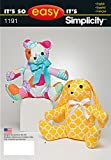 easy bear - Simplicity Patterns US1191OS It's So Easy Stuffed Animals, OS (ONE SIZE)