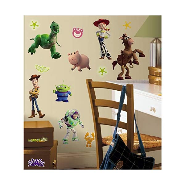 RoomMates Toy Story 3 Glow In The Dark Peel and Stick Wall Decals – RMK1428SCS