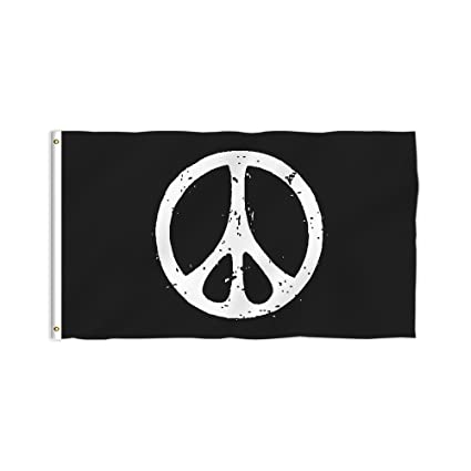 Amazon Kafepross Peace Symbols Decorative Flag Hope And Love