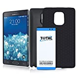 note edge power - TQTHL Samsung Galaxy Note Edge 7300mAh Best Replacement Extended Li-Ion Battery with Black Back Cover & HoneyComb Matte TPU Case -Black [ 24 Month Warranty ]