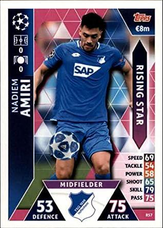 927f5614c Amazon.com  2018-19 Topps UEFA Champions League Match Attax Rising Stars   RS7 Nadiem Amiri Tsg 1899 Hoffenheim Soccer Trading Card  Collectibles    Fine Art