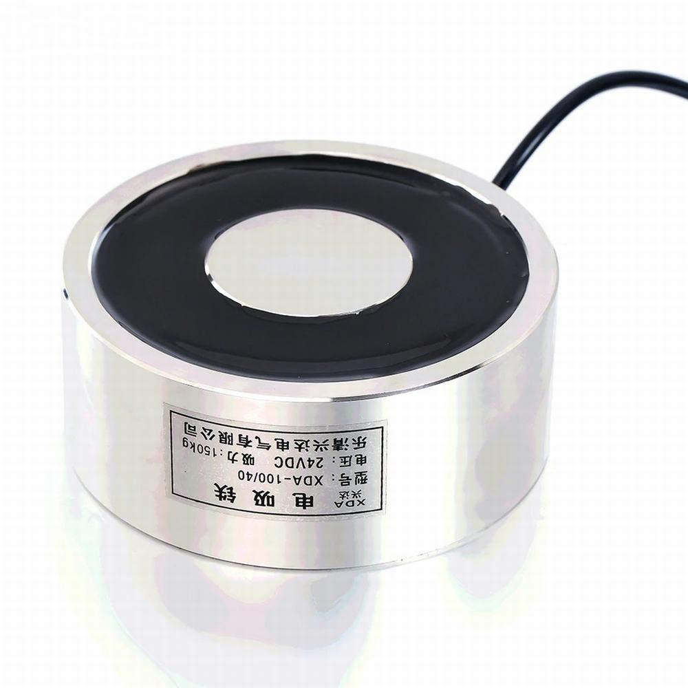 24V - Large Suction JK100/40 DC 6V 12V 24V Electromagnet Lifting 150KG Solenoid Sucker Holding Electric Magnet Non-Standard Custom