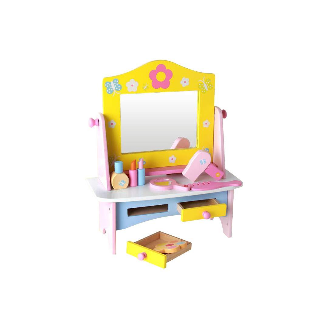 GLJJQMY ドレッシングテーブル子供の遊び場のおもちゃ子供の木のおもちゃ42×16×36 cm 子供の教育玩具   B07PLD9BK2