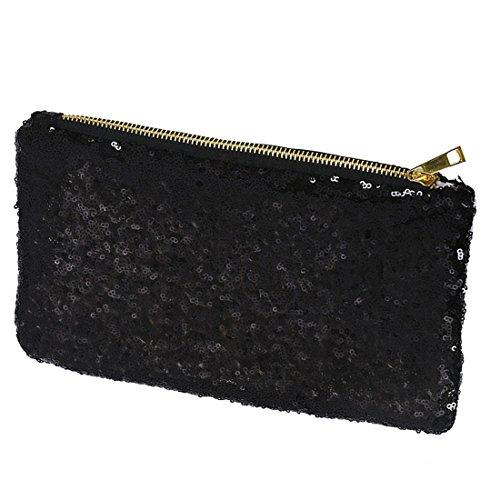 paillette Femmes R SODIAL Pochette Noir Sac Embrayage Soiree Parti Scintillement wTRUqnxaU