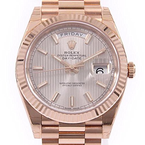 Rolex Day-Date 40mm Rose Gold President Chocolate Roman Dial Watch - Rose Gold Rolex Watches