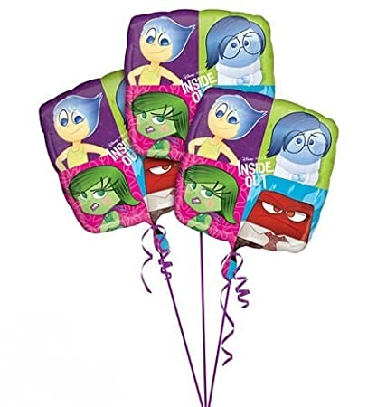 party supplies Inside Out Balloons ~ 3ct by: Amazon.es ...