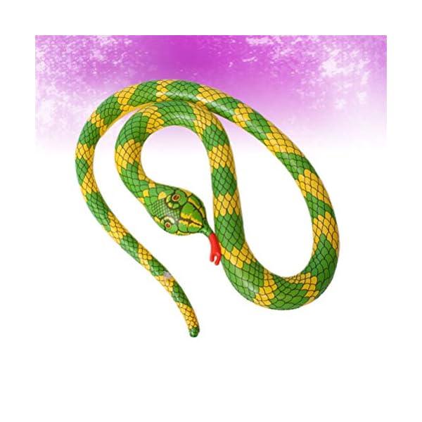 TOYANDONA Serpente Gonfiabile Galleggiante Gonfiabile Giocattolo Palloncino Serpente Spaventoso per Giardino Fattoria… 5 spesavip