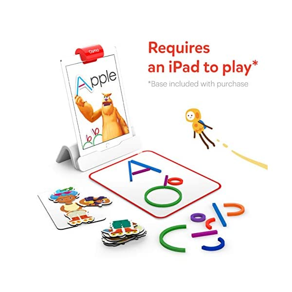Osmo 901-00015 Little Genius Starter Kit 4 Giochi Apprendimento Hands-On età prescolare Risolvere Problemi Base iPad Creativity Incluso 2 spesavip