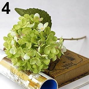 Ameesi 1 Bouquet Faux Artificial Silk Flower Hydrangea Leaves Wedding Party Decor Craft 85