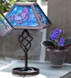 Plow & Hearth 53993-BUT Tiffany Style Outdoor Table Lamp - Butterfly