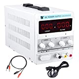 ReaseJoy 30V 5A Variable Laboratory DC Power Supply Regulated Adjustable Precision Lab Kit with Clip Cable