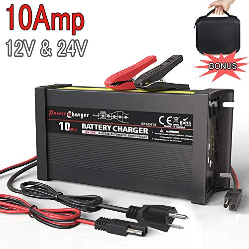 (LST Truck Battery Charger Maintainer Auto Trickle Deep Cycle Charging for Automotive Car Marine RV SLA ATV AGM Gel Cell WET Lead Acid Batteries )