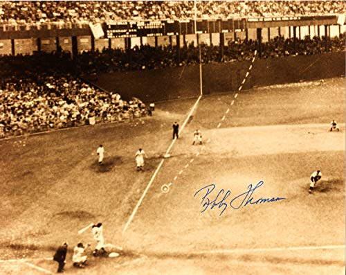 Bobby Thomson New York Giants Autographed Signed 8x10 Photo - Certified Authentic ()
