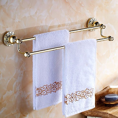 HQLCX Towel Bar, Full Copper Double Pole Towel Rod,B by HQLCX-Towel Bar