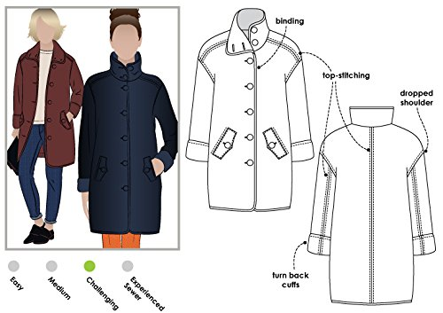 Style Arc Sewing Pattern - Grace Trans-seasonal Coat (Sizes 18-30) - Click for Other Sizes Available