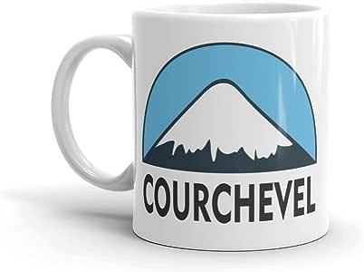 Amazon.com | Courchevel Ski Snowboard 10oz Coffee Tea Mug