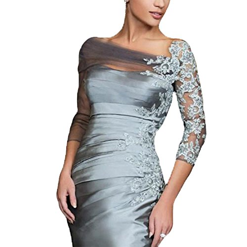 Gray Mother of the Bride Dress