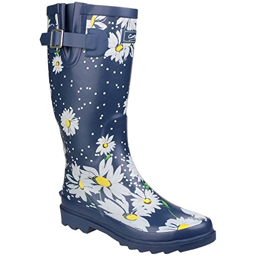 Cotswold Womens/Ladies Burghley Pull On Patterned Wellington Boots (8.5 US) - U Wellington Fit