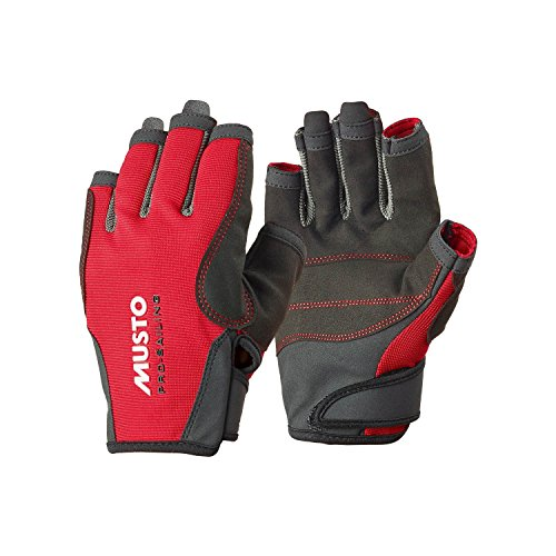 Musto Essential Sailing Short Finger Gloves RED AS0813