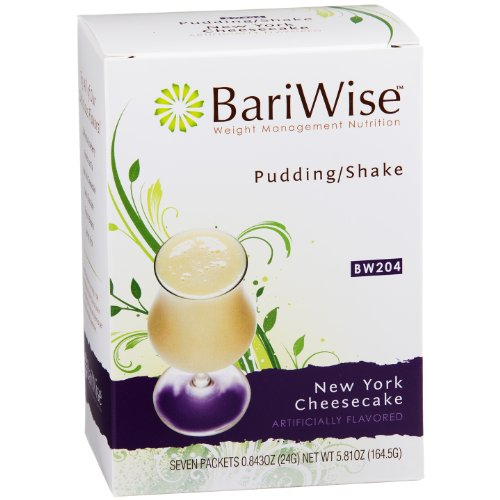 BariWise High Protein Shake / Low-Carb Diet Pudding & Shake Mix - New York Cheesecake (7 Servings/Box) - Gluten Free, Low Fat, Low Carb