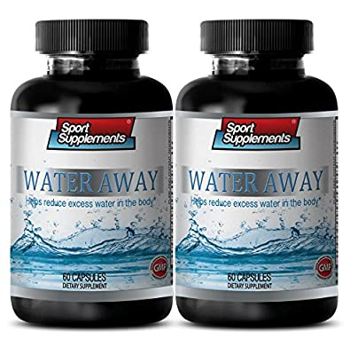 metabolism booster powder - WATER AWAY PILLS - HELP REDUCE EXCESS WATER - blood pressure natural supplements - 2 Bottles (120 Capsules)