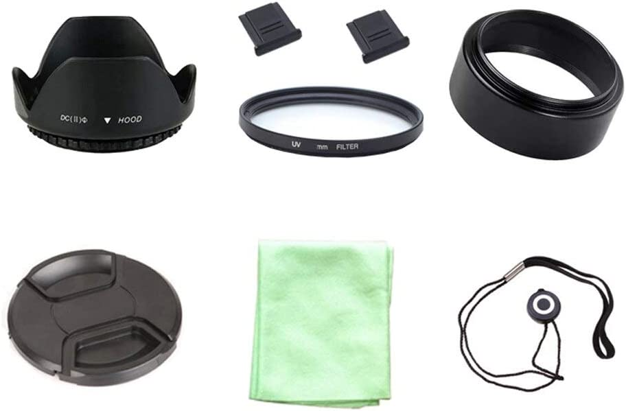 67mm Cap Cover Lens Hood 2 hot Shoe Clothes Metal Lens Hood ND UV CPL Filter 8 in1 49 52 55 58 62 67 72 77 82mm UV Filter Lens Cap line