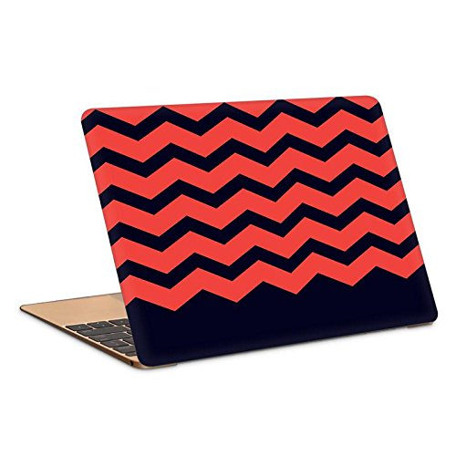 Postergully 15.6  Laptop Skin   Zigzag Red