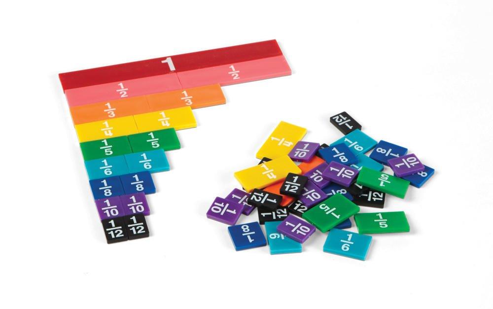 ETA hand2mind Rainbow Fraction Tiles, Plastic (Set of 51) 4264