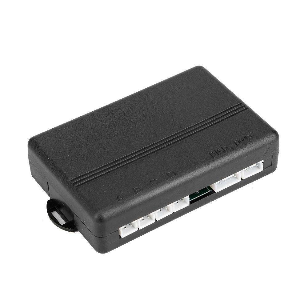 2 LCD Display Auto Reversing Radar Automotive Detector System with 4 Radar Sensors Silver KIMISS 12V DC Universal Car PDC Parking Sensor kit High Sensibility Park Distance Control Sensor