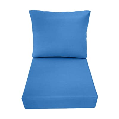 DBM IMPORTS AD102 Knife Edge Small 23x24x6 Deep Seat + Back Slip Cover Only Outdoor Polyester : Garden & Outdoor