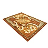 Original Rosemarie Floweret Brown Area Rug 8×10 Size by Msrugs – Made From Turkey with Luxury Design Perfect for Indoor-Home & Kitchen with Clearance Price (8×10, Brown)