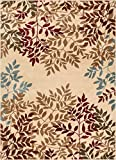 """Well Woven Floral Leaves Modern Area Rug Multicolor 8×10 8×11 (7'10"""" x 9'10"""")"""
