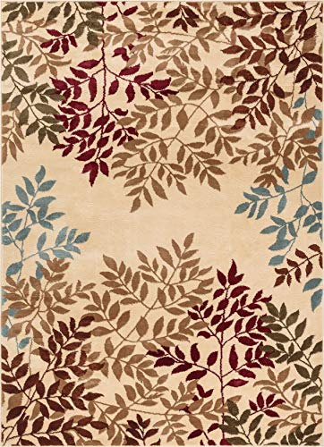 Well Woven Floral Leaves Modern Area Rug Multicolor 5x7 (5'3