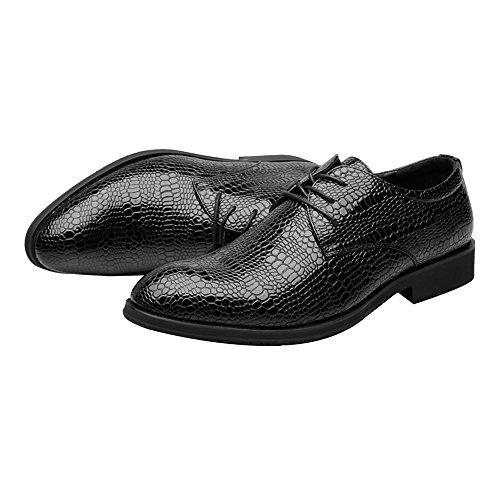 Taille Color Homme Lace Oxford Crocodile du 40 Up Chaussures Respirant d'affaires vin à Doublure Sunny Texture pour Noir Résistant l'abrasion en Skin Cuir EU Upper amp;Baby PU qPCRPg