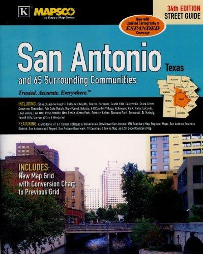 MAPSCO San Antonio and 65 Surrounding Communities Street Atlas