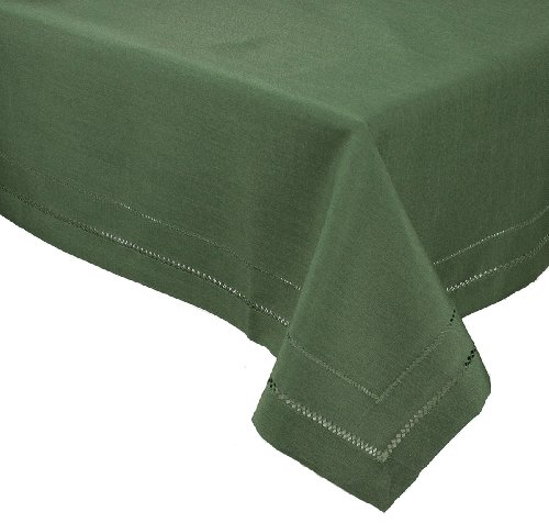 Xia Home Fashions Double Hemstitch Easy Care Tablecloth, 65 by 140-Inch, Pine by Xia Home Fashions