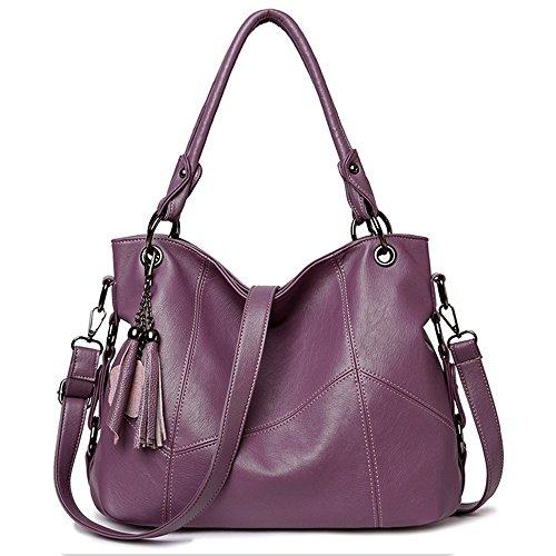Duofeiya Bags Shoulder Fashion Tote Bags Large Women Handbags Handbags Capacity Purple Hobo vrwqOv4F