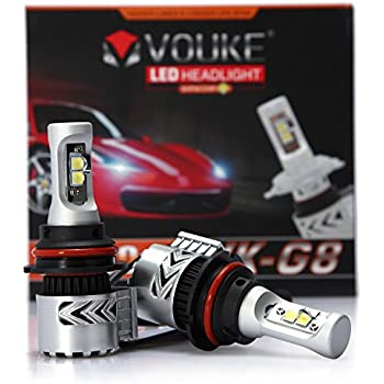 VK-G8 9007 HB5 12000LM LED Headlight Conversion Kit, Hi/Lo beam headlamp, Dual Beam Head Light, HID or Halogen Head light Replacement, 6500K Xenon White, 1 Pair- 2 Year Warranty