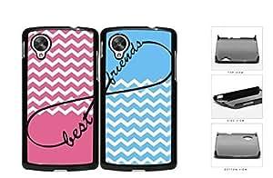 Pink Blue Matching Chevron Best Friends Set Hard Plastic Snap On Cell Phone Case LG Nexus 5 by icecream design