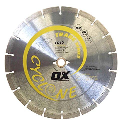 (OX OX-TC10-10 Trade General Purpose 10-Inch Diamond Blade, DM-7/8-Inch-5/8-Inch bore)