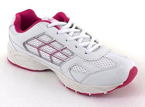 Damen Sportschuhe Turnschuhe weiss/pink, weiss/navy Schnürer 36-42 weiss/pink