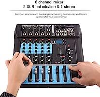 CT6 6 Canal Professional estéreo Licuadora Live Mixing Studio ...
