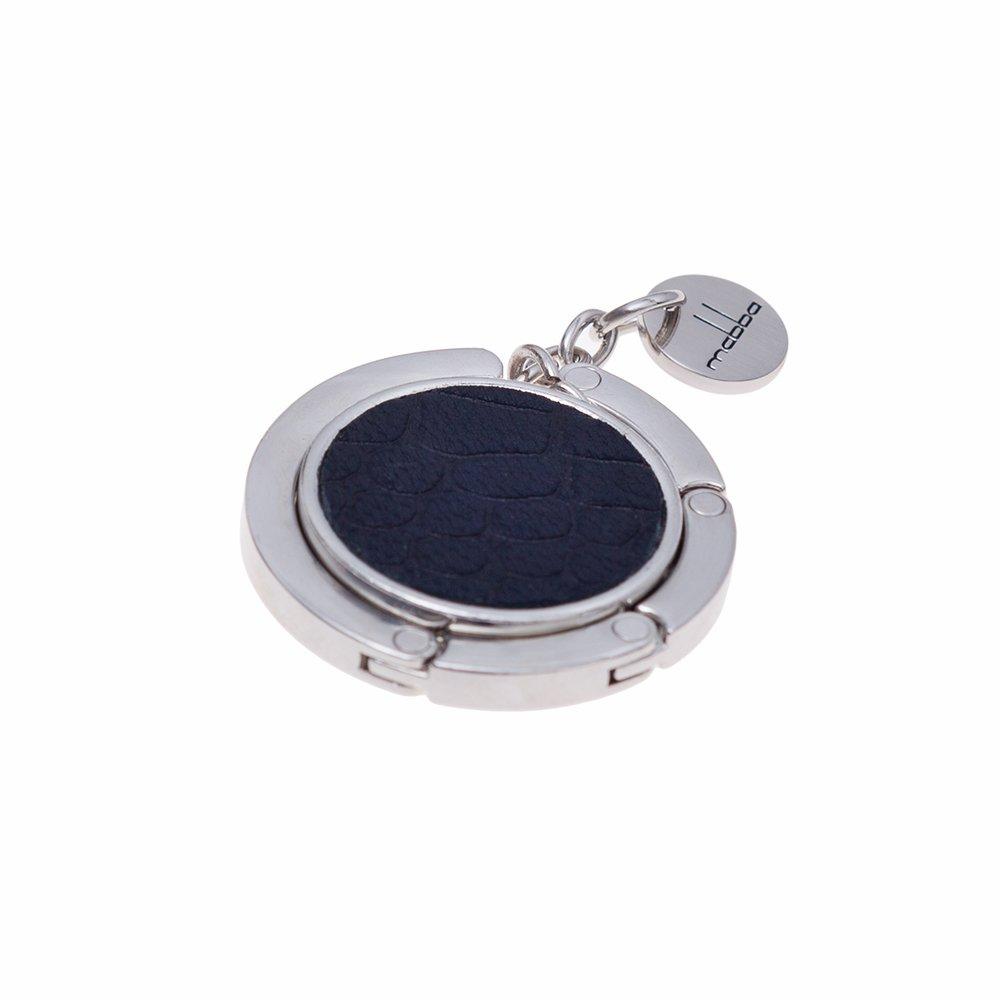 mabba® Taschenhalter Leder - Emmi - Handtaschenhalter - Aufhänger - Bag Holder - Croc Black