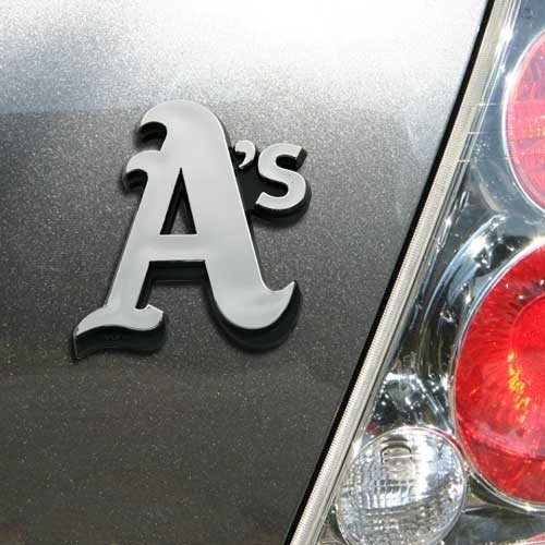 MLB Oakland Athletics Chrome Automobile Emblem ()