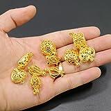 Best Gold Colors With Bead Shapes - 10pcs Mix Gold Color Shape Locket Cage Clip Review